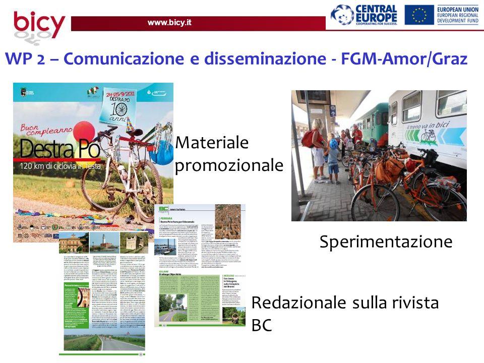 www.bicy.it WP 2 – Comunicazione e disseminazione - FGM-Amor/Graz Materiale promozionale Redazionale sulla rivista BC Sperimentazione