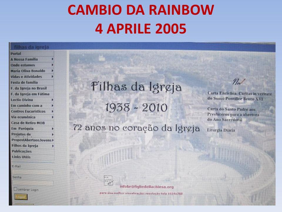 CAMBIO DA RAINBOW 4 APRILE 2005