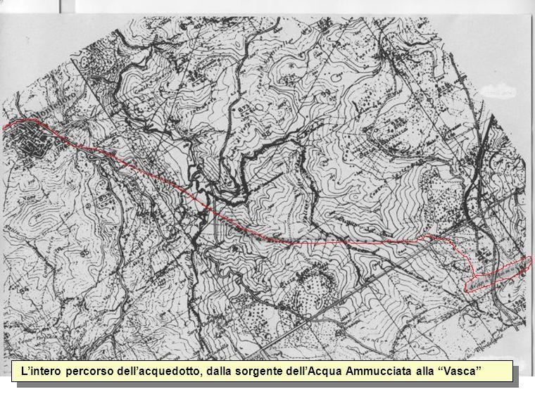 Lintero percorso dellacquedotto, dalla sorgente dellAcqua Ammucciata alla Vasca
