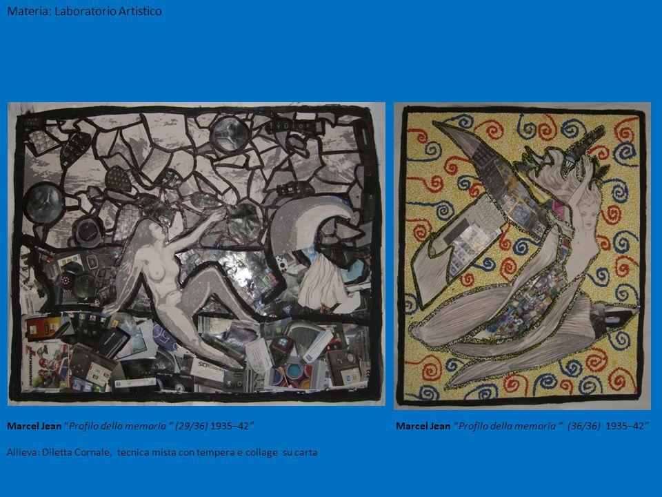 Marcel Jean Profilo della memoria (29/36) 1935–42 Marcel Jean Profilo della memoria (36/36) 1935–42 Allieva: Diletta Cornale, tecnica mista con temper