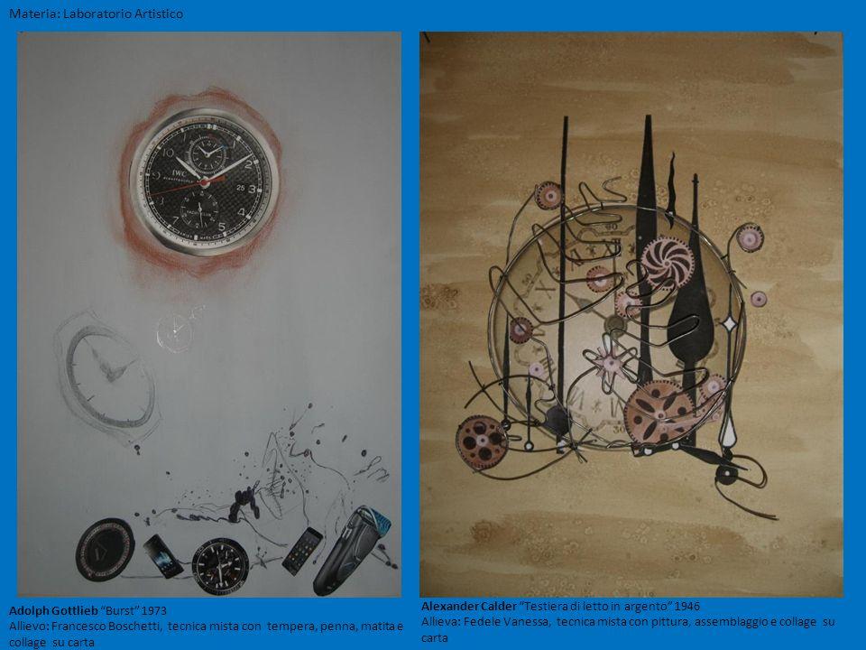Materia: Laboratorio Artistico Alexander Calder Testiera di letto in argento 1946 Allieva: Fedele Vanessa, tecnica mista con pittura, assemblaggio e c