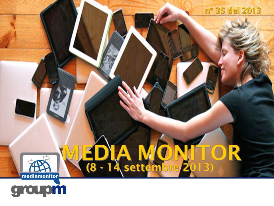 2 Questa settimana sul Media Monitor… Hot topics TV: i trend recenti Tra le novità Dalla nuova ricerca Deloitte si conferma come lItalia abbia unenorme propensione alluso dei dispositivi mobili.