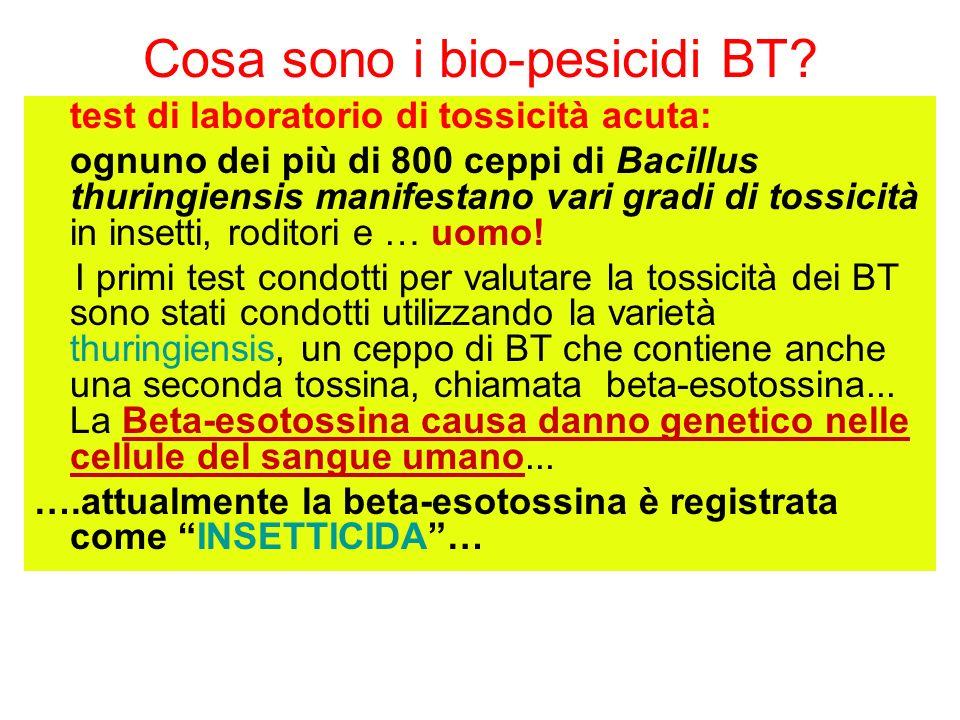 Cosa sono i bio-pesicidi BT.