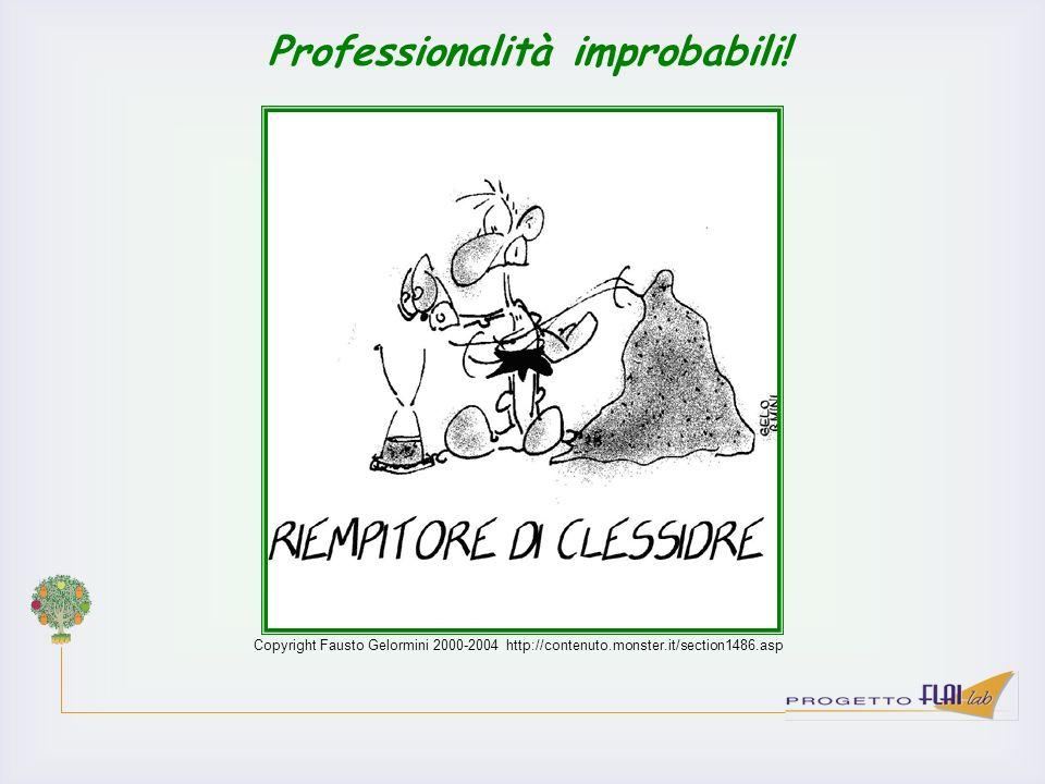 Copyright Fausto Gelormini 2000-2004 http://contenuto.monster.it/section1486.asp Professionalità improbabili!