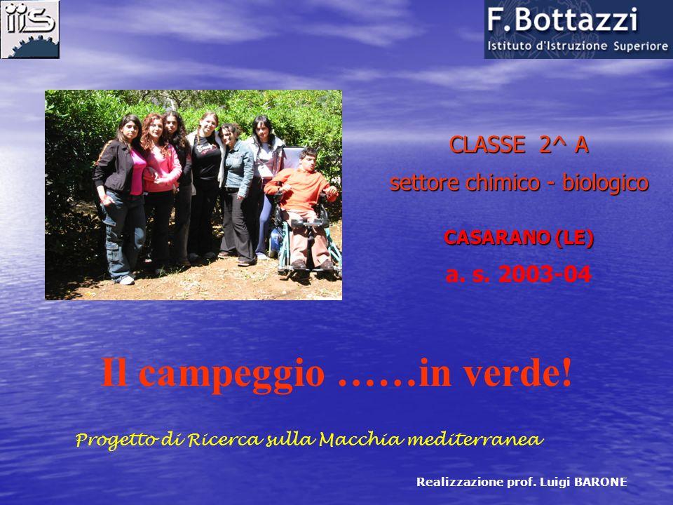 CLASSE 2^ A settore chimico - biologico CASARANO (LE) a.