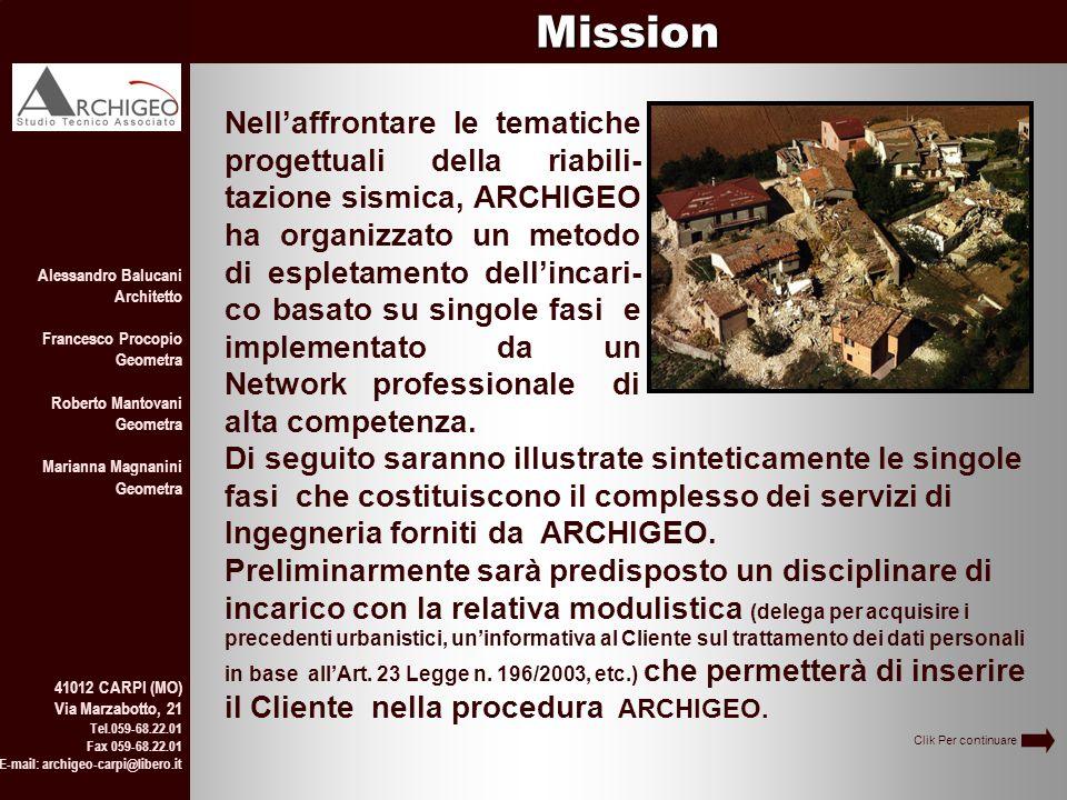 a a Alessandro Balucani Architetto Francesco Procopio Geometra Roberto Mantovani Geometra Marianna Magnanini Geometra 41012 CARPI (MO) Via Marzabotto,