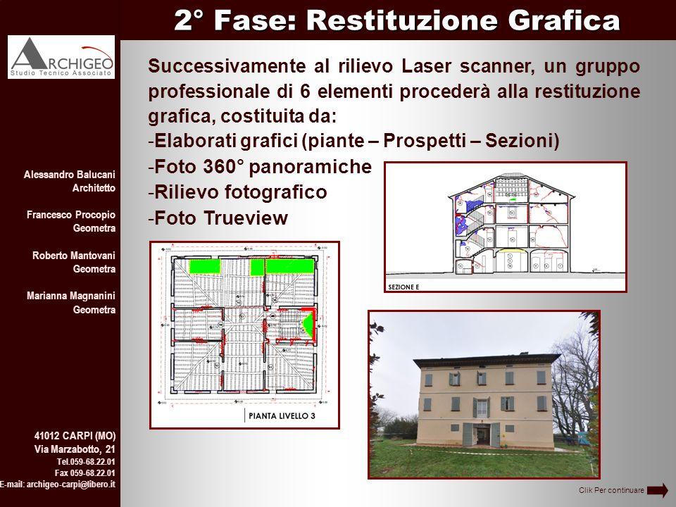 2° Fase: Restituzione Grafica Alessandro Balucani Architetto Francesco Procopio Geometra Roberto Mantovani Geometra Marianna Magnanini Geometra 41012