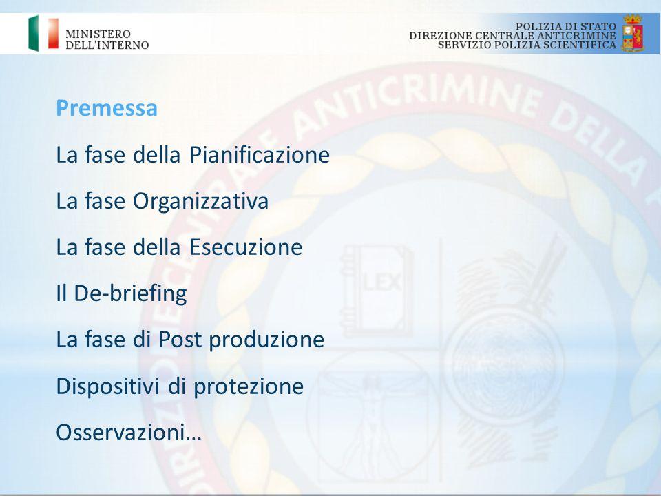 Premessa Il contesto normativo di riferimento delle linee guida Limpiego della Polizia Scientifica nei servizi di O.P.