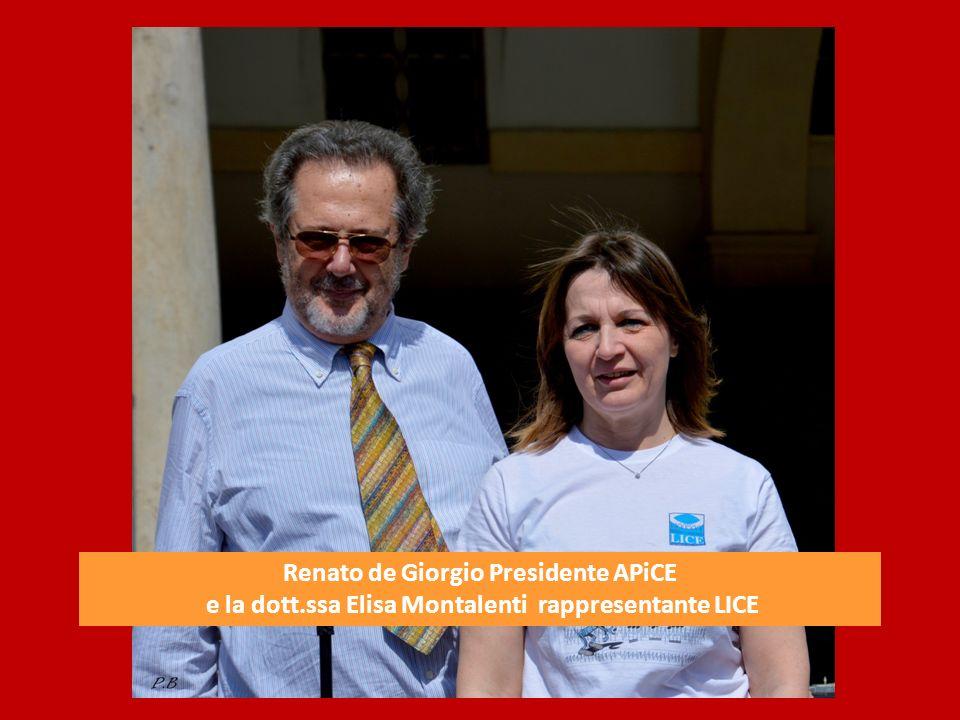 Da sinistra Daniela Giorcelli, consigliere APiCE, la dott.ssa Elisa Montalenti rappresentante LICE, Renato de Giorgio Presidente APiCE e Laura Gervasoni consigliere APiCE