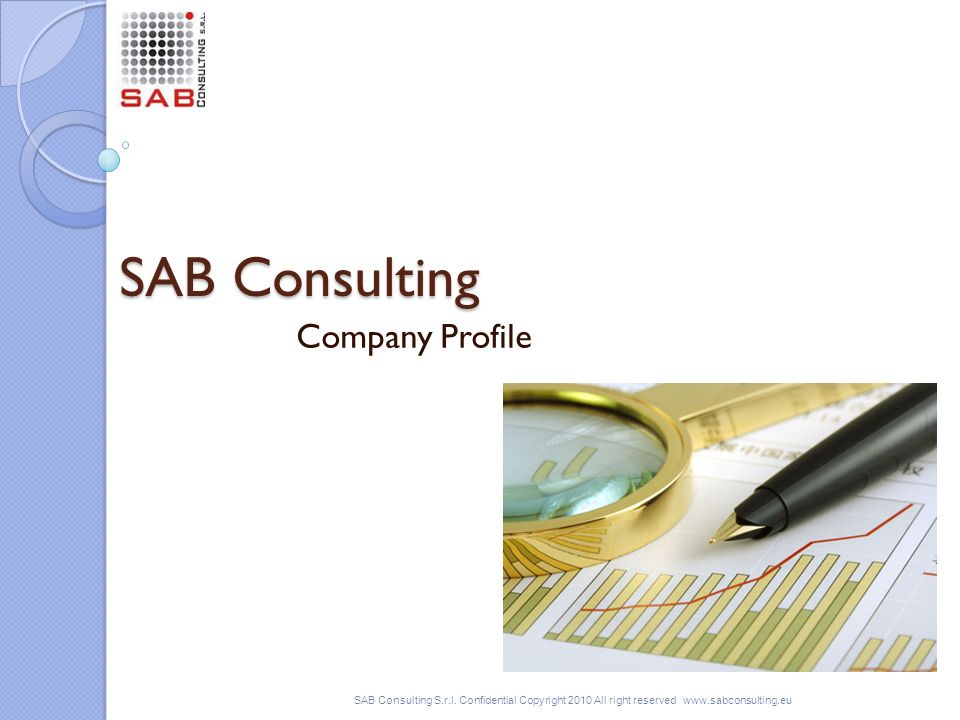 SAB Consulting Company Profile SAB Consulting S.r.l.