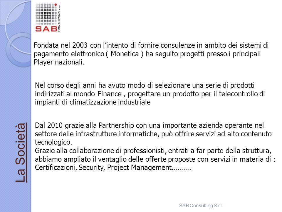 Fondata nel 2003 con lintento di fornire consulenze in ambito dei sistemi di pagamento elettronico ( Monetica ) ha seguito progetti presso i principal