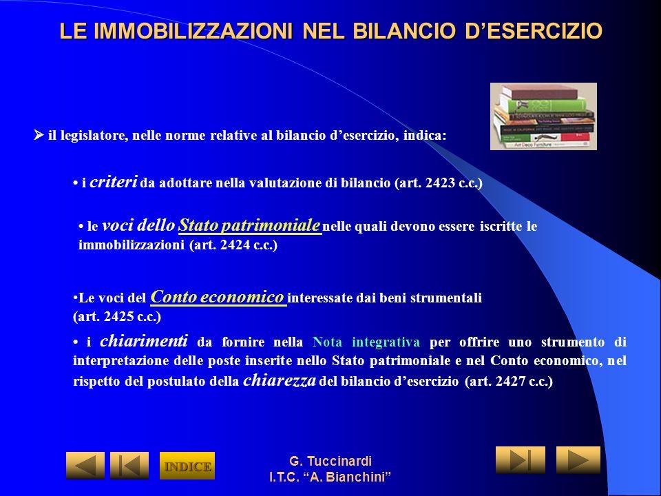 G. Tuccinardi I.T.C. A. Bianchini le voci dello Stato patrimoniale nelle quali devono essere iscritte le immobilizzazioni (art. 2424 c.c.)Stato patrim