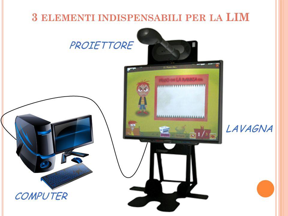 Le diverse combinazioni che esistono tra questi tre elementi danno vita a diverse tipologie di LIM e alle differenze duso tra le stesse.