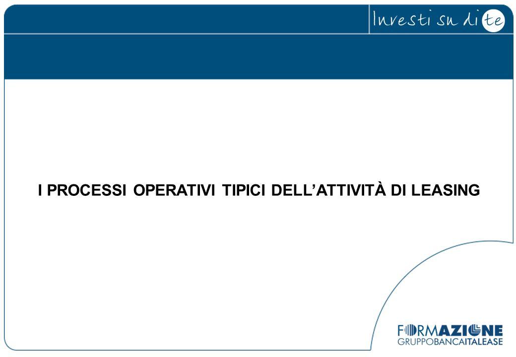 I PROCESSI OPERATIVI TIPICI DELLATTIVITÀ DI LEASING