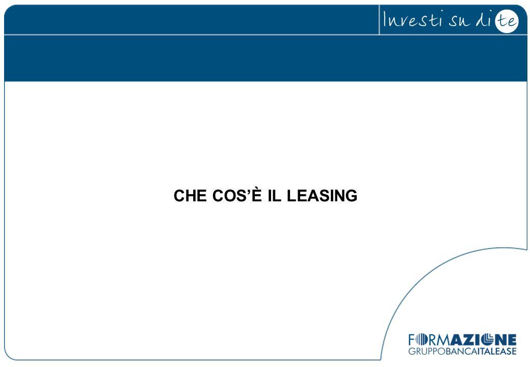Il Leasing OPERATIVO costituisce una fattispecie particolare di Leasing; consente al Locatario di ottenere la disponibilità del bene lasciando in capo al Locatore i rischi di obsolescenza e di perdita di valore del bene per tutta la durata del contratto.