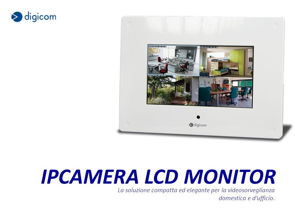 IPCAMERA LCD MONITOR La soluzione compatta ed elegante per la videosorveglianza domestica e dufficio.