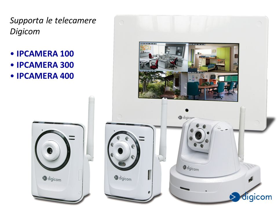 Supporta le telecamere Digicom IPCAMERA 100 IPCAMERA 300 IPCAMERA 400