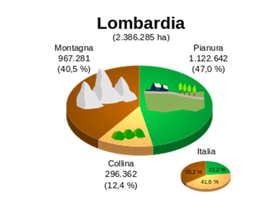 IL TERRITORIO Il territorio della Lombardia si può dividere in tre fasce.