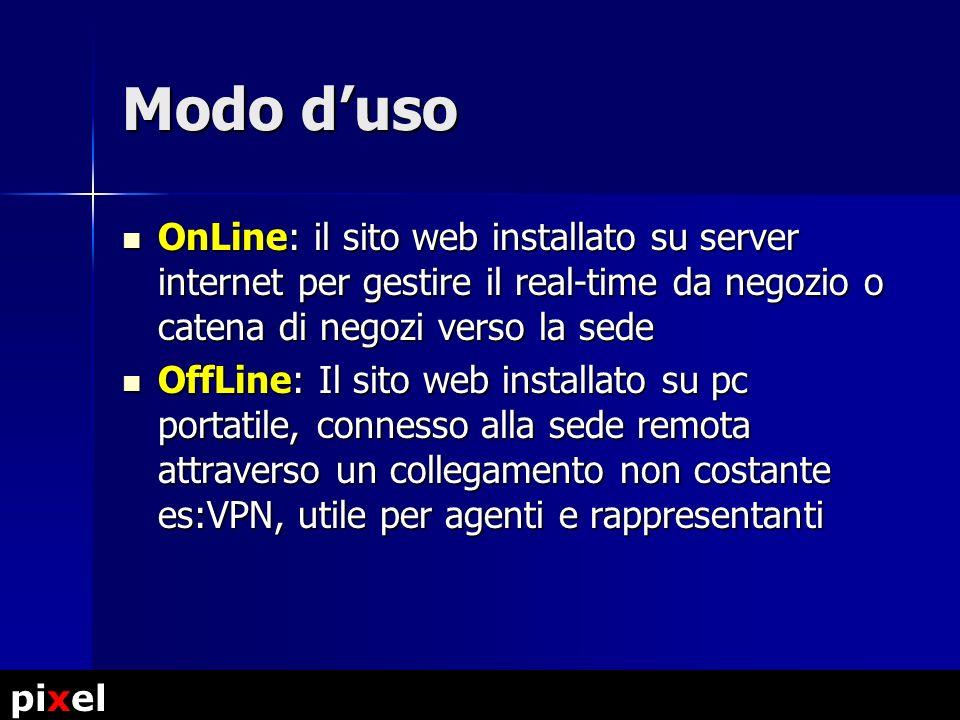 Magazzino Centralizzato ordini.ilmionegozio.it Negozio web #1 shop01.ilmionegozio.it Negozio web #2 shop02.ilmionegozio.it Negozio web #3 shop03.imionegozio.it Schema a blocchi (store+retail) pixel