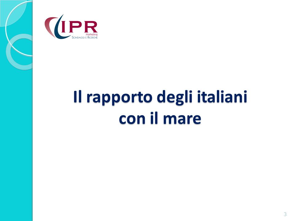 Il rapporto degli italiani con il mare 3