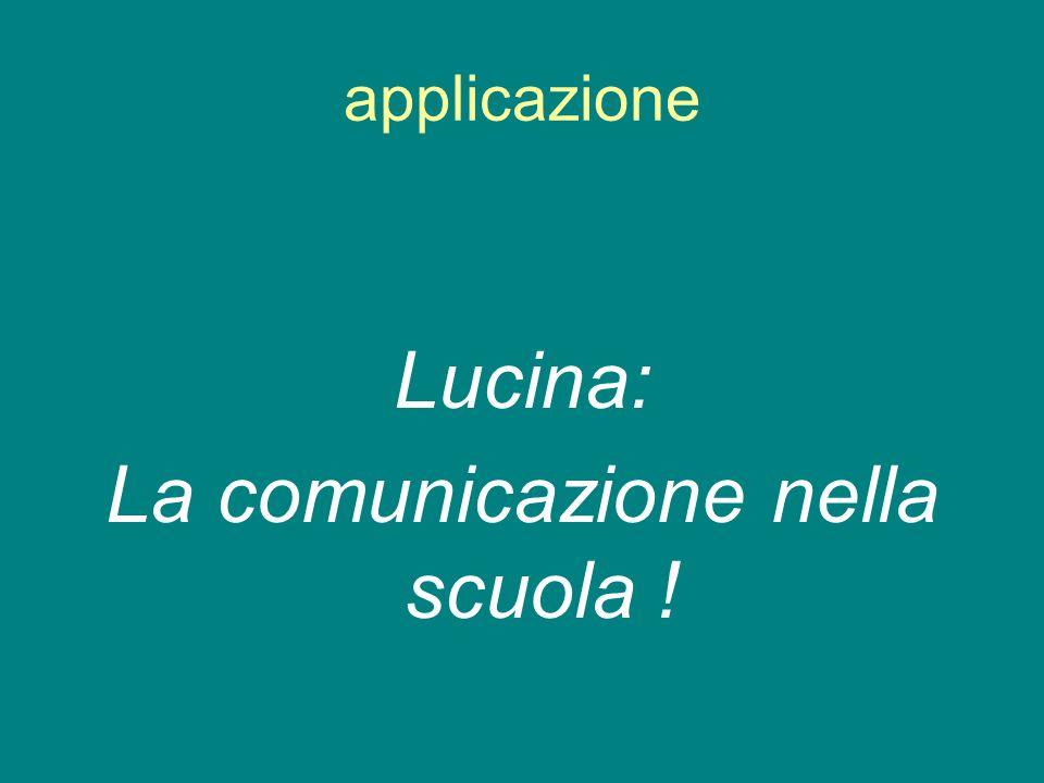 applicazione Lucina: La comunicazione nella scuola !