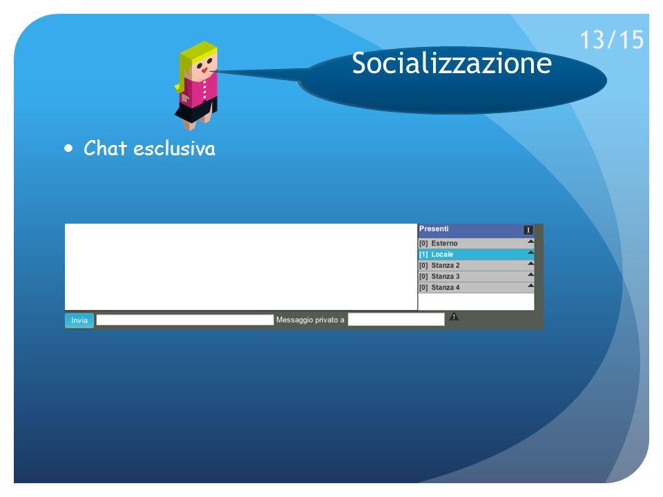 Chat esclusiva Socializzazione 13/15