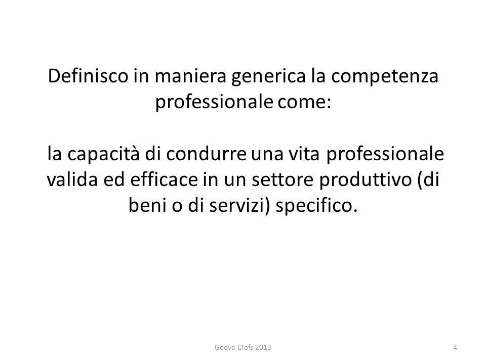 La legge Fornero definisce la competenza certificabile come un insieme strutturato di conoscenze e di abilità acquisite nei contesti di apprendimento formale, non formale e informale.