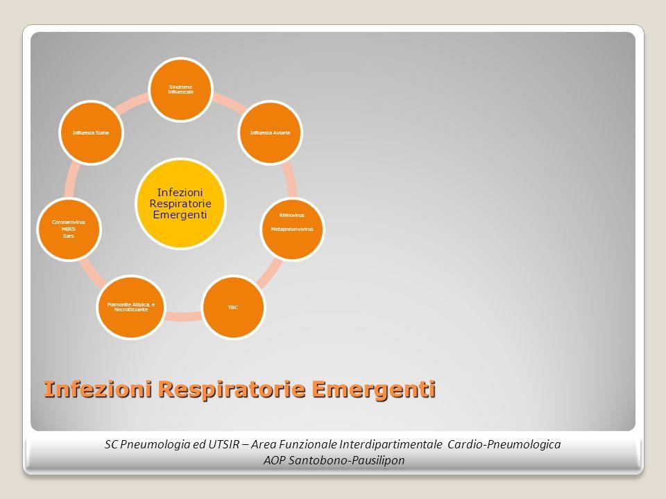 Infezioni Respiratorie Emergenti SC Pneumologia ed UTSIR – Area Funzionale Interdipartimentale Cardio-Pneumologica AOP Santobono-Pausilipon SC Pneumol