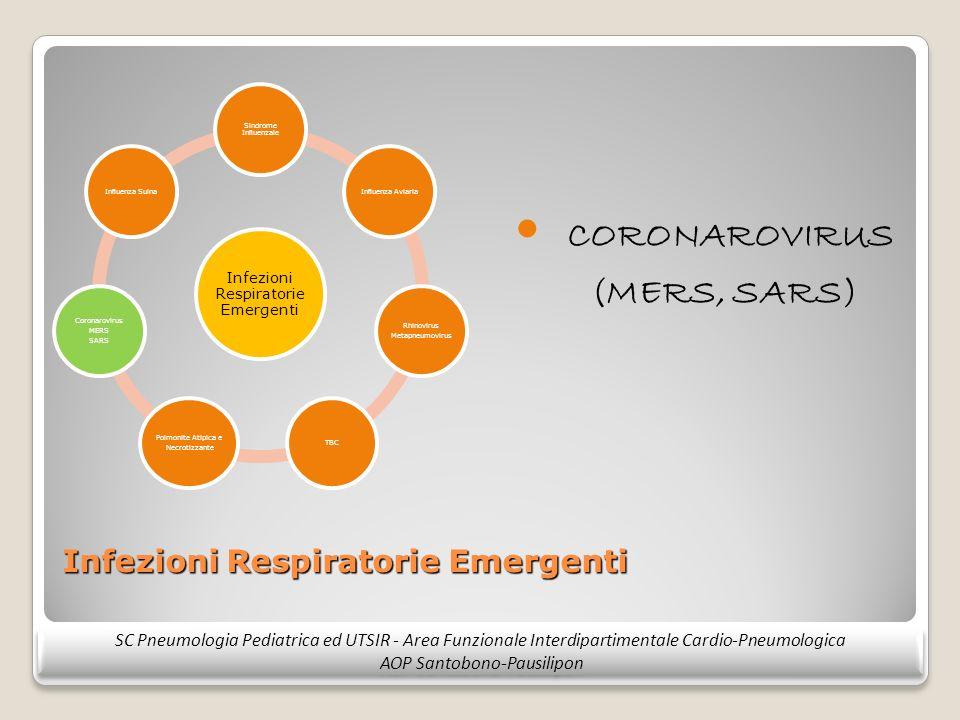 Infezioni Respiratorie Emergenti CORONAROVIRUS (MERS, SARS) SC Pneumologia Pediatrica ed UTSIR - Area Funzionale Interdipartimentale Cardio-Pneumologi