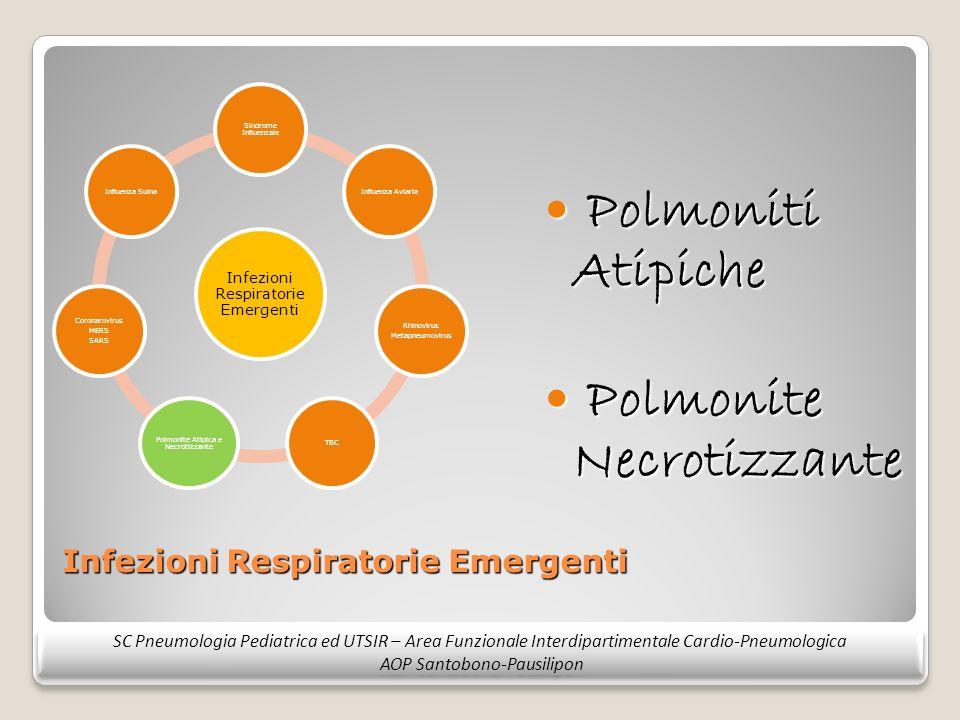 Infezioni Respiratorie Emergenti Polmoniti Atipiche Polmoniti Atipiche Polmonite Necrotizzante Polmonite Necrotizzante SC Pneumologia Pediatrica ed UT