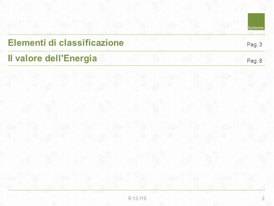 2R.13.119 Elementi di classificazione Il valore dell'Energia Pag. 8 Pag. 3