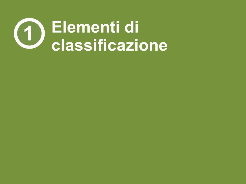 Elementi di classificazione 1