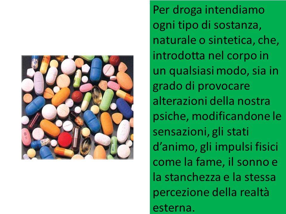 Gli Oppiacei: sono loppio, la codeina, la morfina.