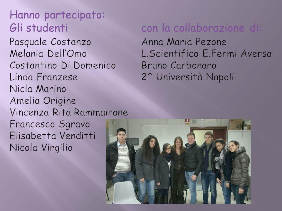Hanno partecipato: Gli studenti con la collaborazione di: