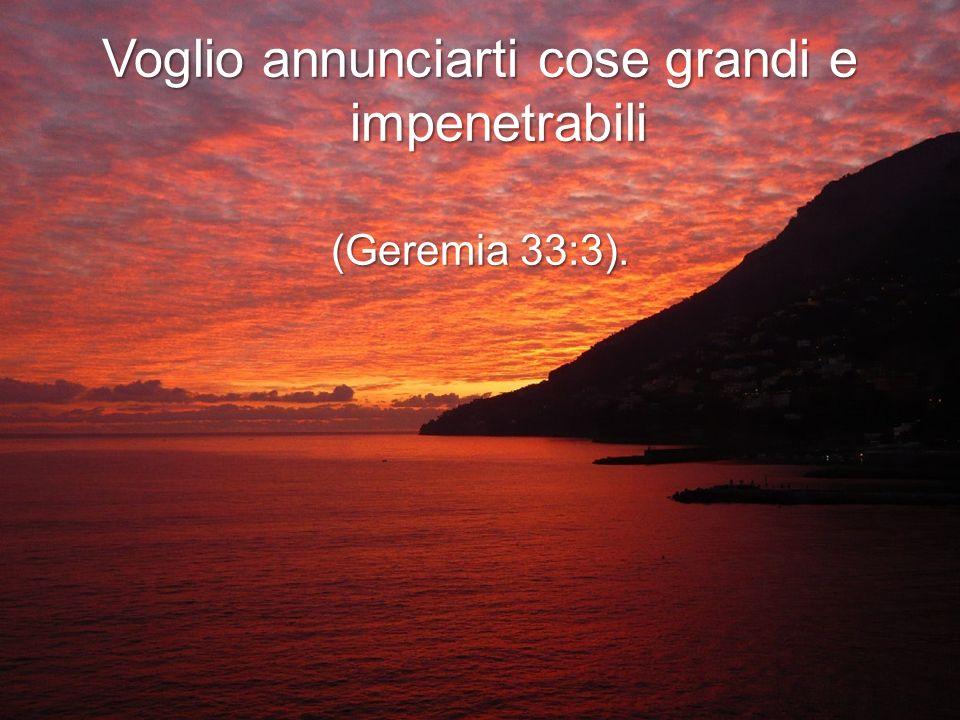 Con tutto il cuore e con tutta l anima voglio prepararti una dimora perpetua (Geremia 32:41).