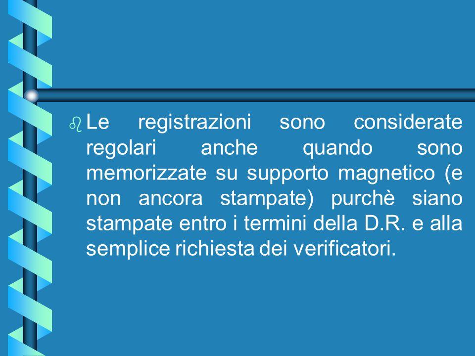 Registrazione scheda Carb. b b Il Ministero non indica i termini di registrazione, è tuttavia opportuno effettuare la registrazione al termine del per