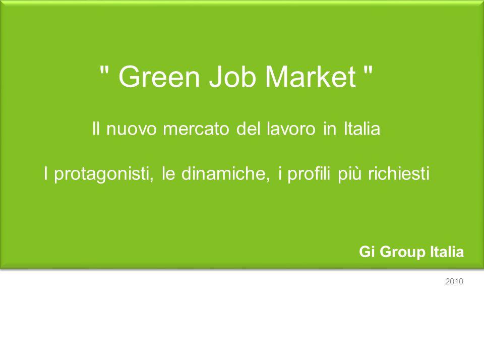 www.gigroup.it ESPERTO DELLA PROGETTAZIONE DEI SISTEMI RINNOVABILI Sviluppa e coordina la progettazione di campi FER TECNICO COMMERCIALE DELLE ENERGIE RINNOVABILI Sviluppa le opportunità sul territorio TECNICO DELLA NORMATIVA E REGOLAMENTAZIONE Valuta le procedure necessarie e analizza i corretti investimenti BUSINESS DEVELOPER Ricerca e acquista i terreni idonei, a progetto finito vende gli impianti PROJECT MANAGER Si occupa di garantire l efficace svolgimento del processo produttivo nel rispetto dei tempi, dei costi e delle specifiche contrattuali I Green Jobs più richiesti 32