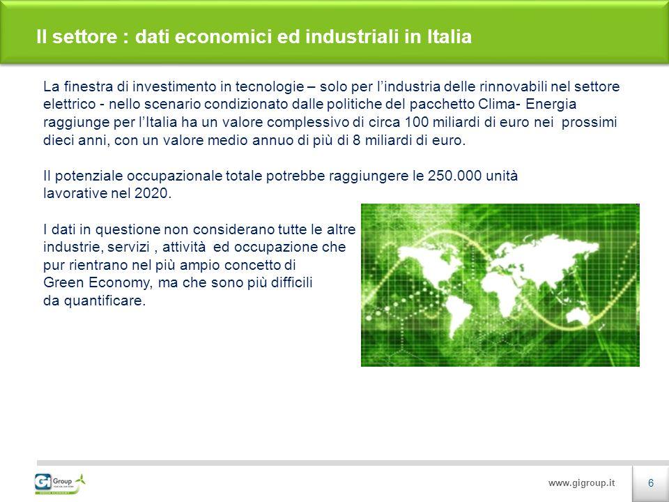 www.gigroup.it IMPROVE WIND COMPETENCE 2011 Un progetto con la partecipazione di :