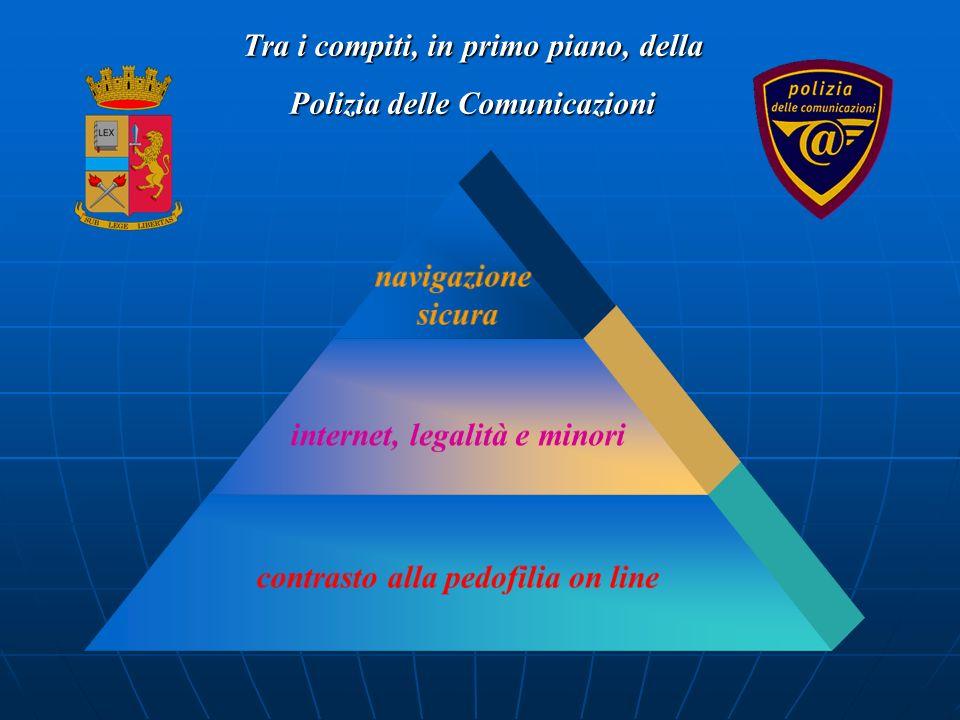 navigazione sicura internet, legalità e minori contrasto alla pedofilia on line Tra i compiti, in primo piano, della Polizia delle Comunicazioni