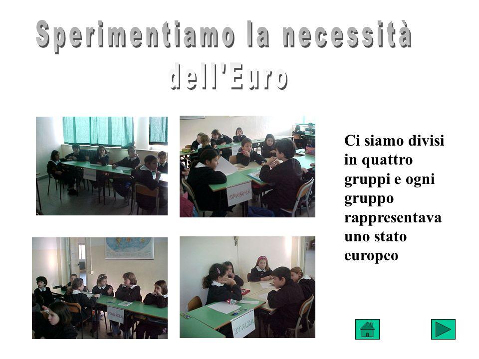 Ci siamo divisi in quattro gruppi e ogni gruppo rappresentava uno stato europeo