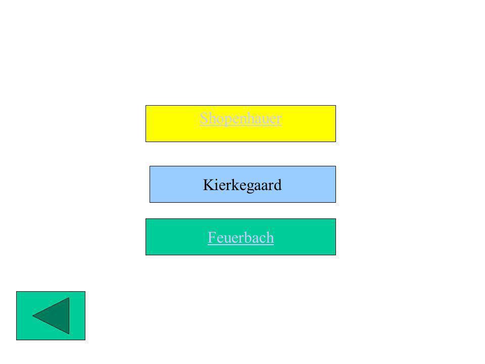 Le Tesi Filosofiche di Shopenauer, Kierkegaard e Feuerbach contro lIdealismo Hegeliano