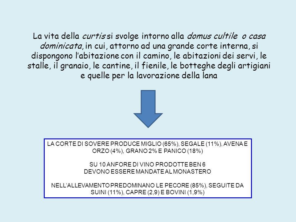 1) Cortile interno della curtis 2) Secondo cortile della curtis 3) Ingresso della curtis con stemma dei Federici