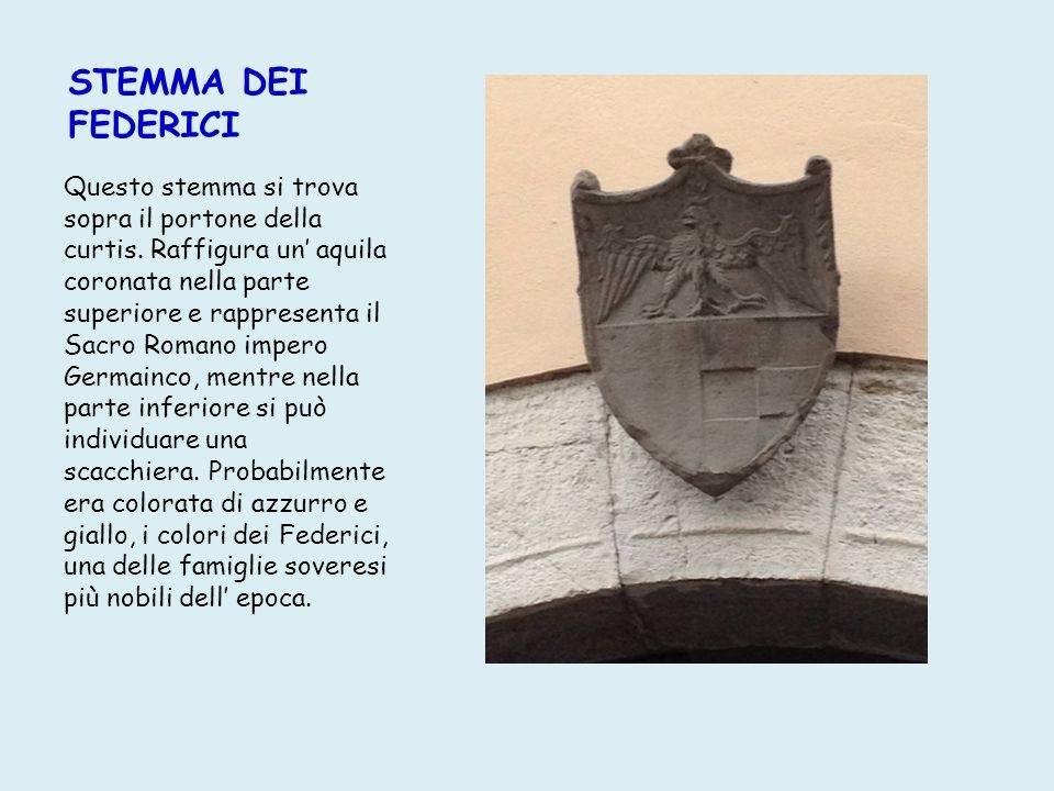 STEMMA DEI FEDERICI Questo stemma si trova sopra il portone della curtis.