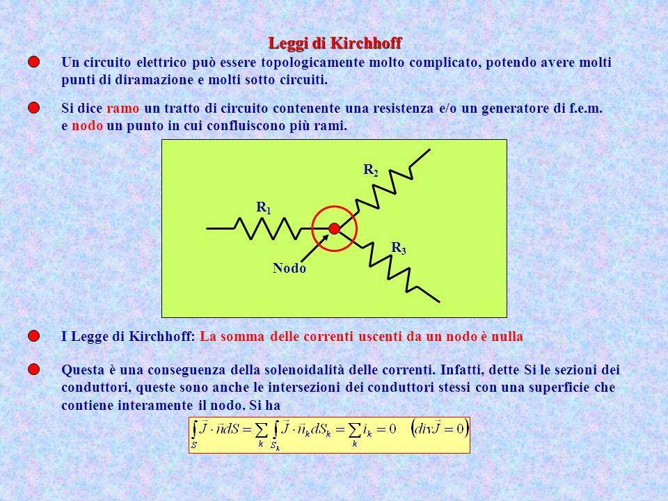 Un circuito elettrico può essere topologicamente molto complicato, potendo avere molti punti di diramazione e molti sotto circuiti. Si dice ramo un tr