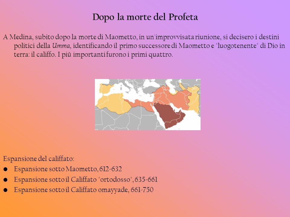 Dopo la morte del Profeta A Medina, subito dopo la morte di Maometto, in un'improvvisata riunione, si decisero i destini politici della Umma, identifi
