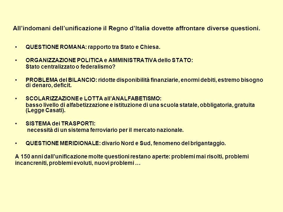 Stato e Chiesa Il rapporto Chiesa e Stato Italiano è nato come questione romana, è nato da Porta Pia e dal non expedit di Pio IX, il papa liberale del 1848.