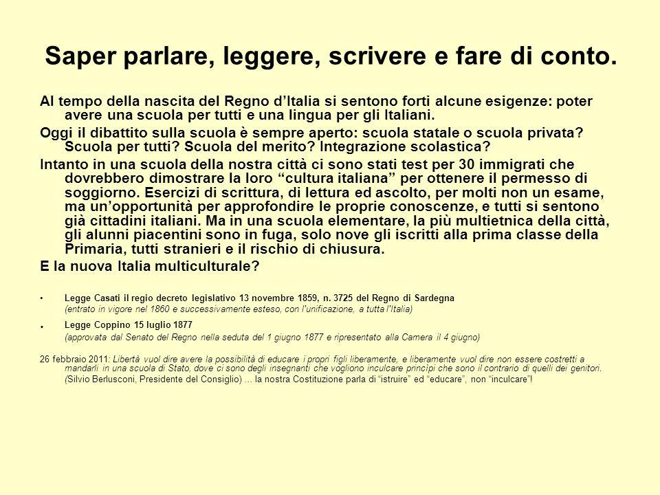 Muoversi in Italia Nel decennio 1859-1869 il Regno dItalia costruisce strade e ferrovie e si passa dai 1858 ai 6176 chilometri che diventeranno 8000 nel 1880.