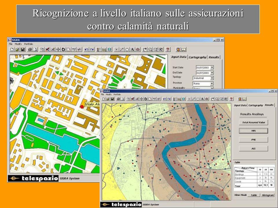 Ricognizione a livello italiano sulle assicurazioni contro calamità naturali