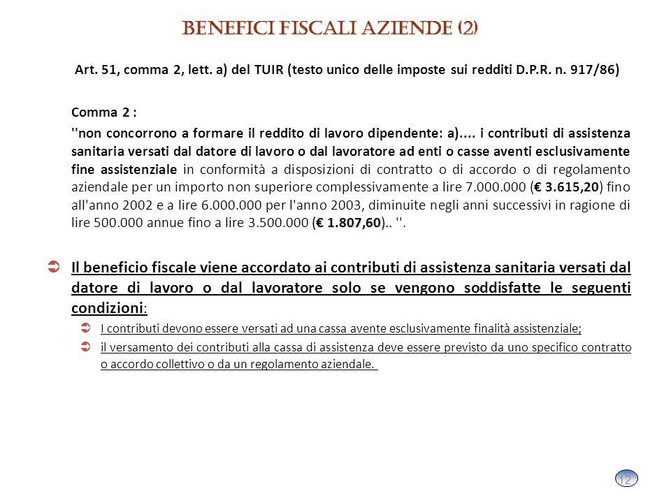 12 Art. 51, comma 2, lett. a) del TUIR (testo unico delle imposte sui redditi D.P.R.