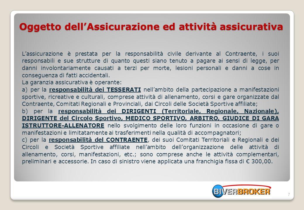 Convenzione Assicurativa Infortuni Procedura denuncia sinistri on line 18